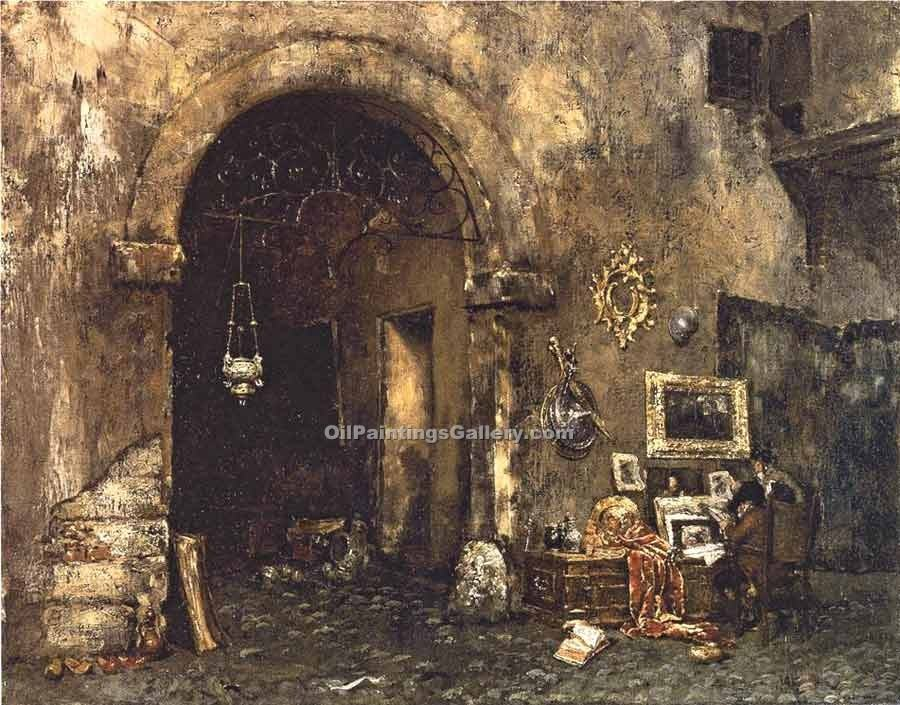 """The Antiquary Shop"" by  William Merritt Chase"