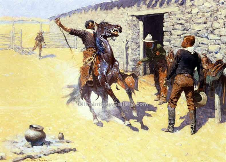 """The Apaches"" by  Frederic Remington"