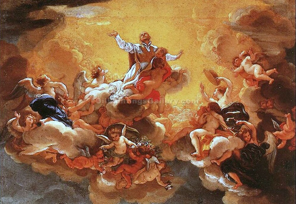 The Apotheosis of Saint Ignatius by Baciccio | Canvas Oil Painting - Oil Paintings Gallery