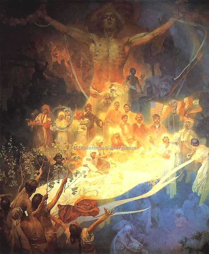 """The Apotheosis of the Slavs"" by  Alphonse Maria Mucha"