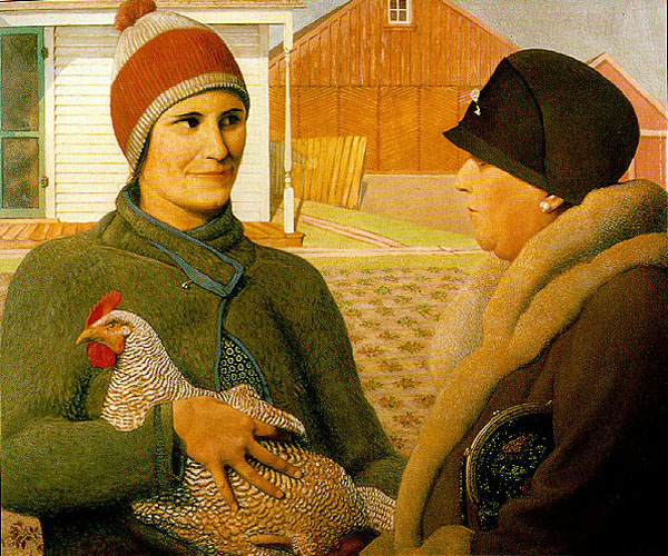 """The Appraisal"" by  Grant Wood"