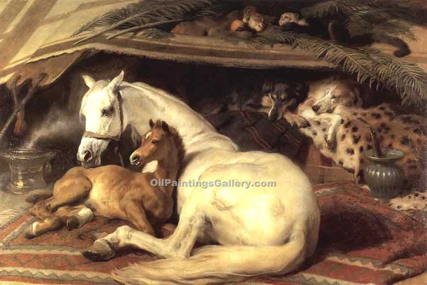 """The Arab Tent"" by  Sir Edwin Henry Landseer"