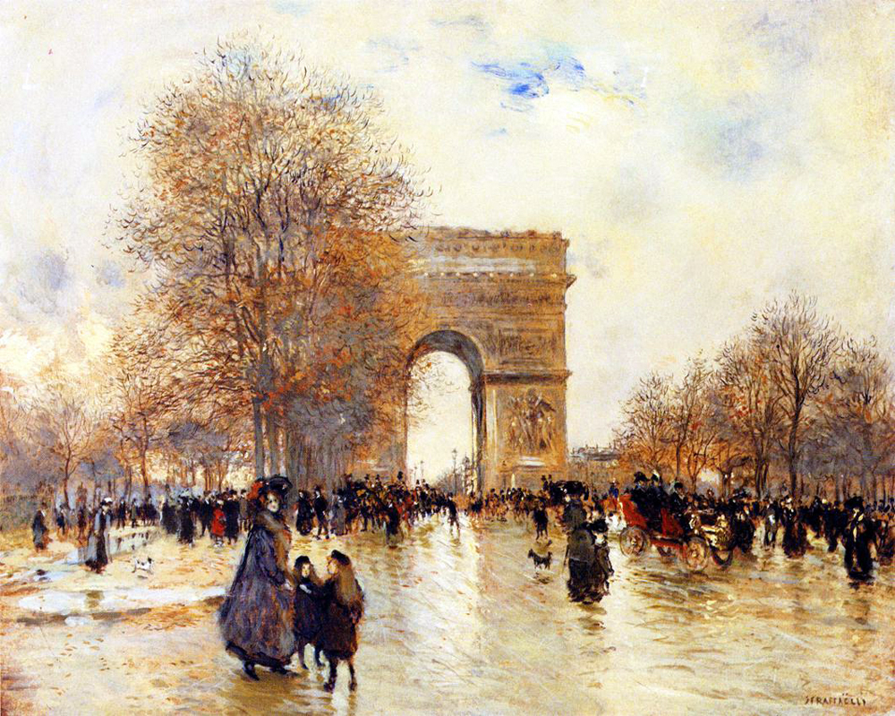 """The Arc of Triumph, Autumn Effect"" by  Jean Francois Raffaelli"