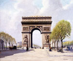 The Arc of Triumph by  Jean Francois Raffaelli (Painting ID: CI-0359-KA)