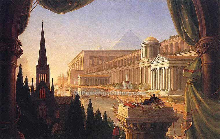 """The Architect s Dream"" by  Thomas Cole"