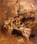 The Art Connoisseur by  Giovanni Boldini (Painting ID: ED-0471-KA)