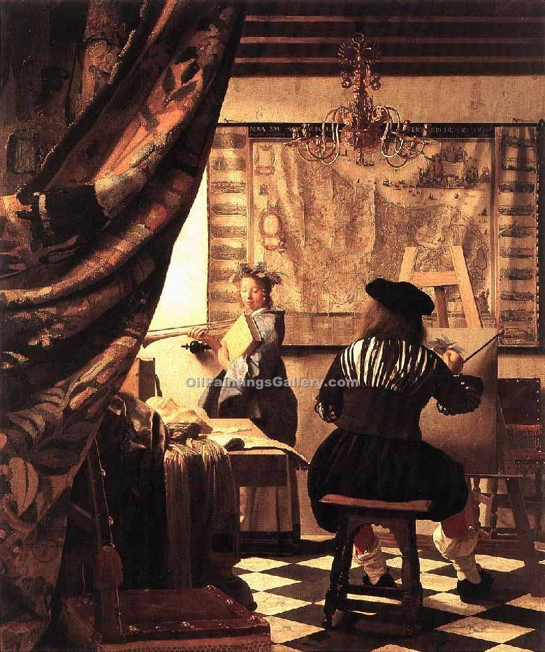 """The Art of Painting"" by  Jan Vermeer"