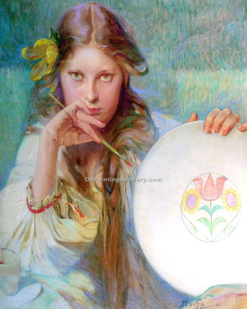 """The Artist 34"" by  Alphonse Maria Mucha"