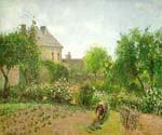 The Artist Garden at Eragny by  Camille Pissarro (Painting ID: LA-0936-KA)