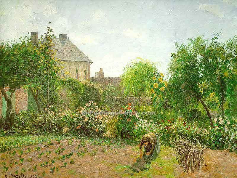 """The Artist Garden at Eragny"" by  Camille Pissarro"