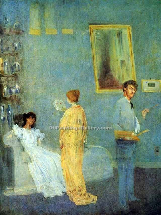 """The Artist s Studio"" by  James McNeill  Whistler"