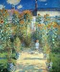 The Artists Garden at Vetheui by  Claude Monet (Painting ID: MO-1192-KA)