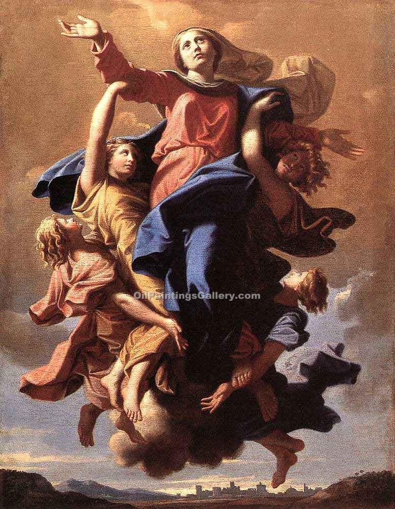 """The Assumption of the Virgin 07"" by  Nicolas Poussin"