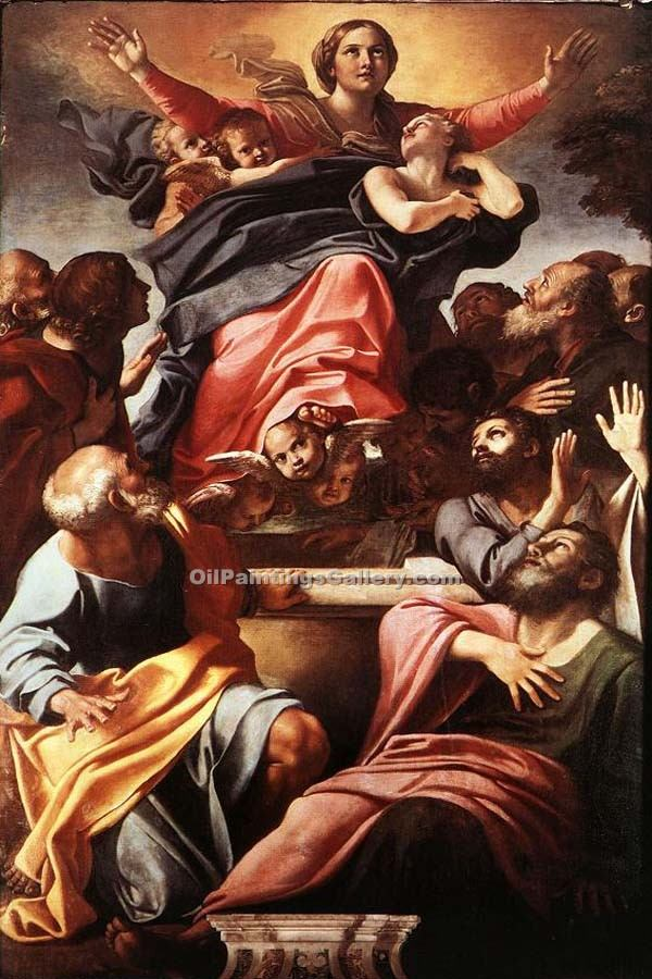 """The Assumption of the Virgon"" by  Agostino Carracci"
