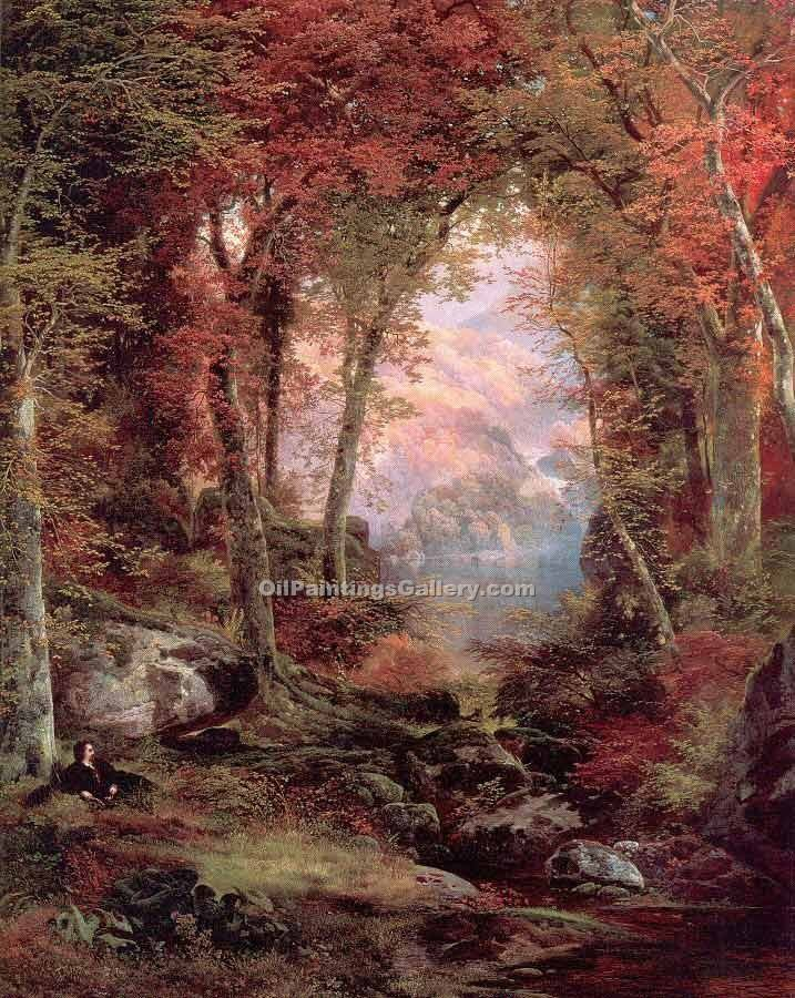 """The Autumnal Woods"" by  Thomas Moran"