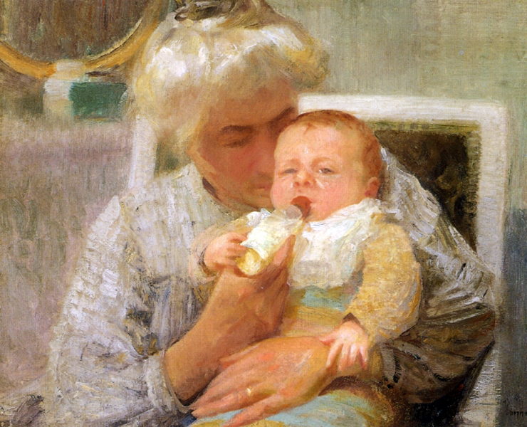 """The Baby"" by  Robert Vonnoh"