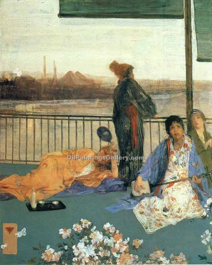 """The Balcony 18"" by  James McNeill  Whistler"