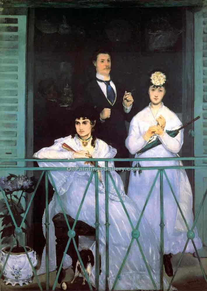 """The Balcony 48"" by  Edouard Manet"