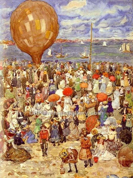 """The Balloon"" by  Maurice Brazil Prendergast"