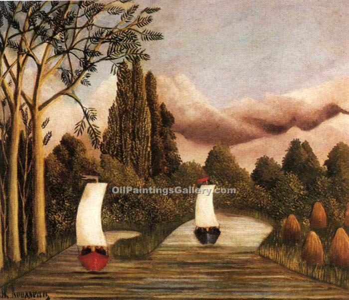 """The Banks of the Oise"" by  Henri Rousseau"