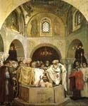 The Baptism of Kievans by  Viktor  Mikhailovich Vasnetsov (Painting ID: CM-1654-KA)