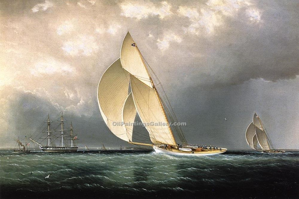 """The Bark Marblehead Coming into Port"" by  James E Buttersworth"
