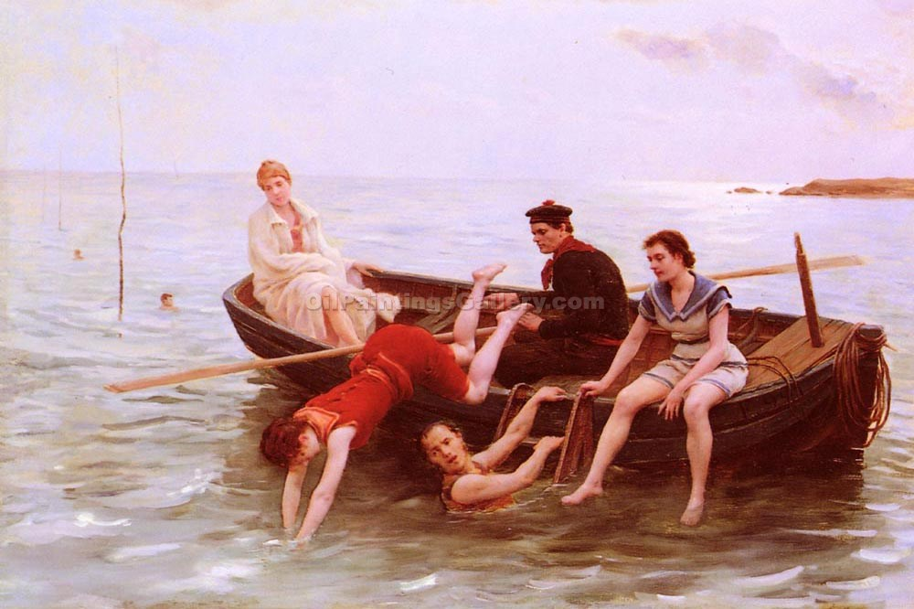 """The Bathers 83"" by  Jules Scalbert"