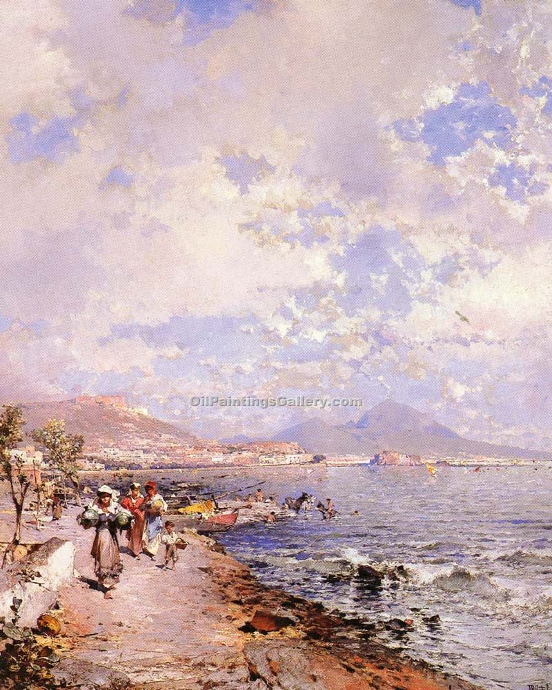 """The Bay of Naples 16"" by  Franz Richard Unterberger"