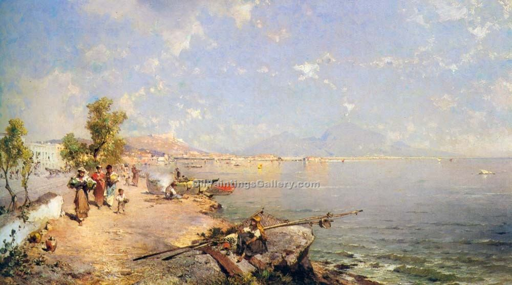 """The Bay of Naples 17"" by  Franz Richard Unterberger"