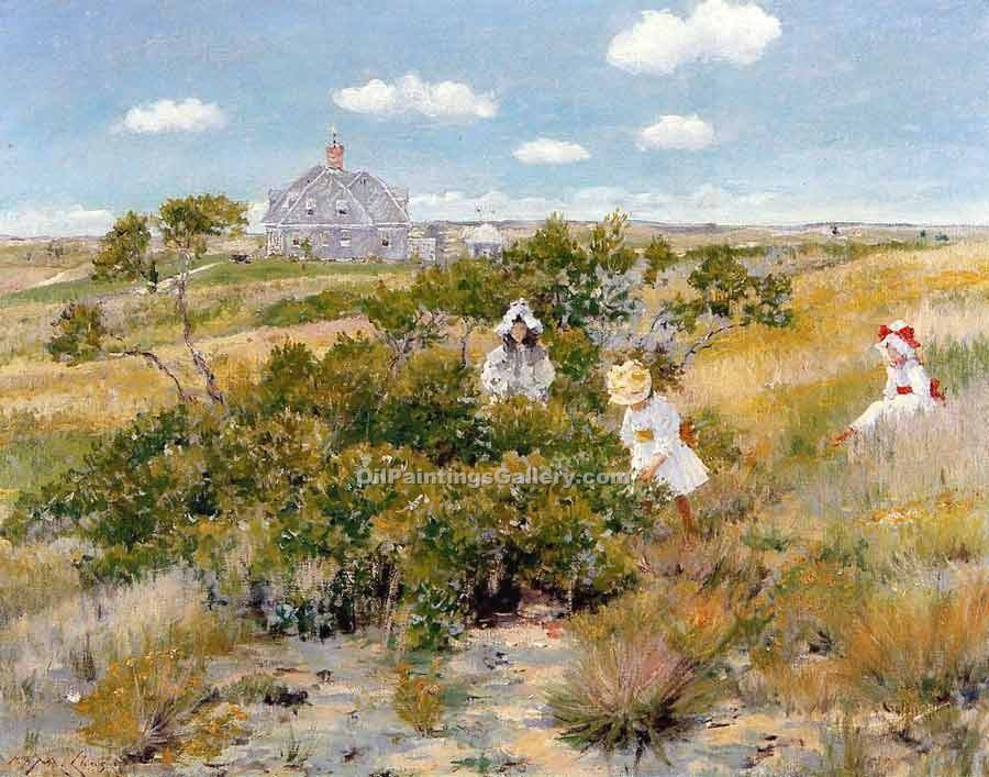 """The Bayberry Bush"" by  William Merritt Chase"