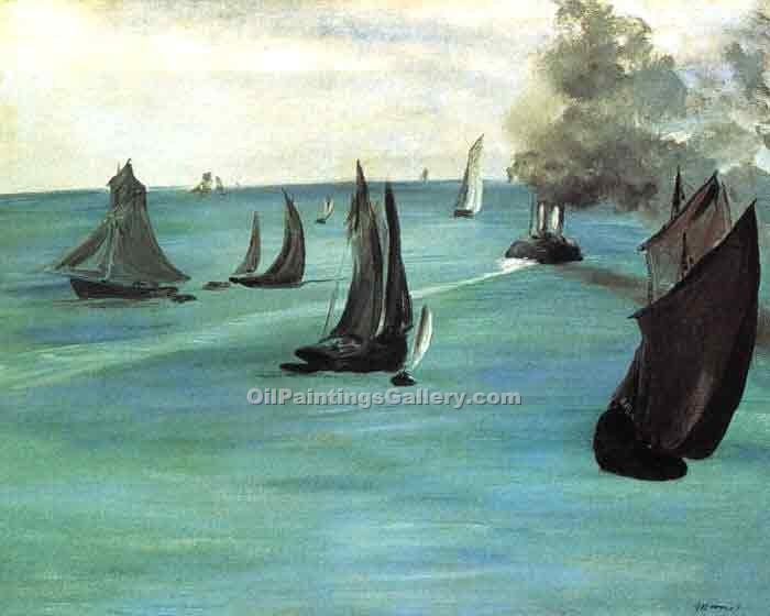 """The Beach at Sainte Adresse"" by  Edouard Manet"