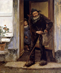 The Beggar by  Jules Bastien Lepage (Painting ID: ED-0278-KA)