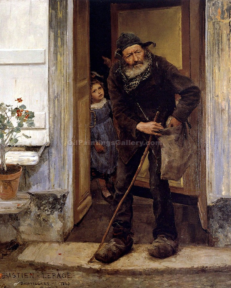 """The Beggar"" by  Jules Bastien Lepage"