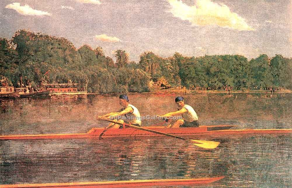 """The Biglin Brothers Racing"" by  Thomas Eakins"