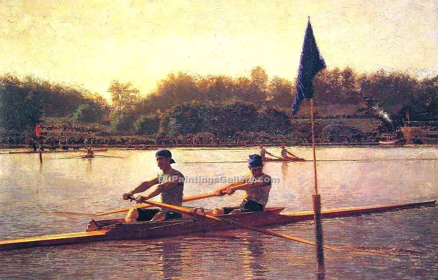 """The Biglin Brothers Turning the Stake"" by  Thomas Eakins"