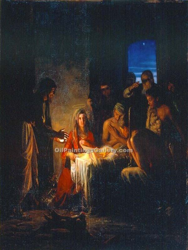 """The Birth of Christ"" by  Carl Heinrich Bloch"