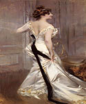 The Black Sash by  Giovanni Boldini (Painting ID: ED-0473-KA)