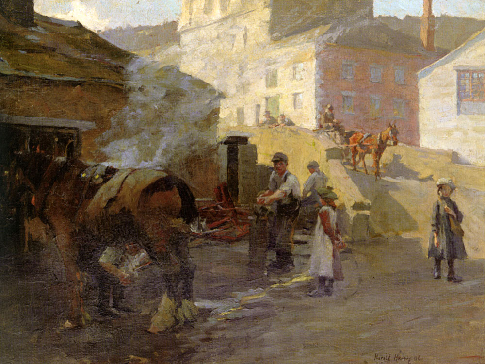 """The Blacksmith"" by  Harold Harvey"