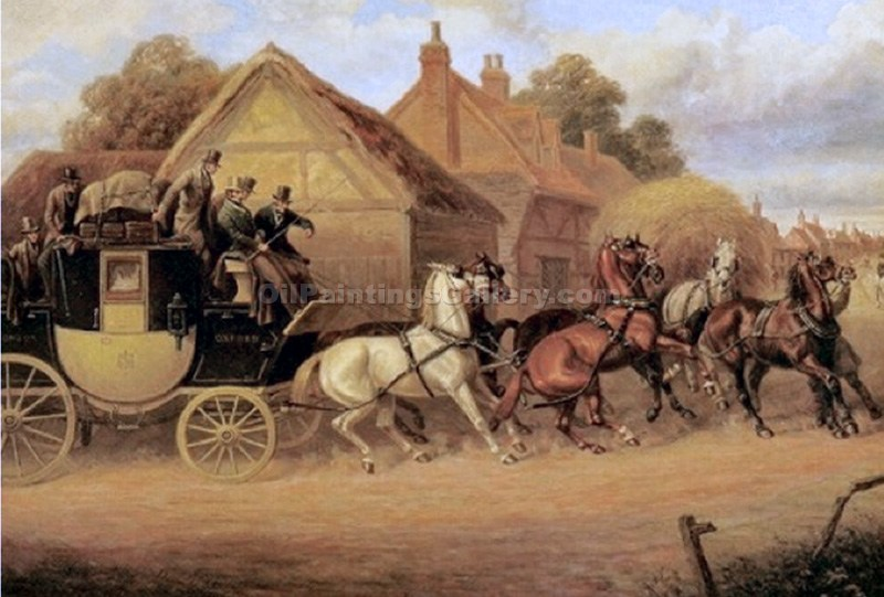 """The Blenheim to Oxford Coach"" by  Samuel Henry Alchen"