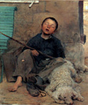 The Blind Begar by  Jules Bastien Lepage (Painting ID: ED-0276-KA)