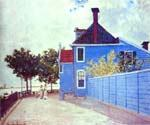 The Blue House in Zaandam by  Claude Monet (Painting ID: MO-1132-KA)