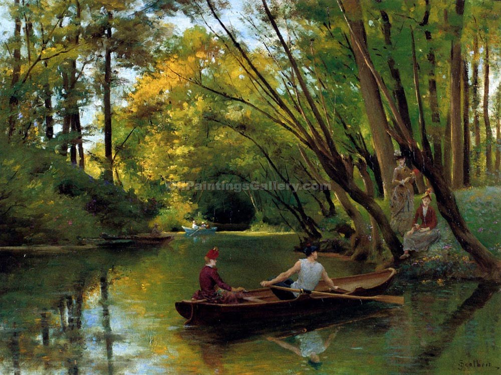 """The Boatmen"" by  Jules Scalbert"