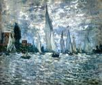 The Boats Regatta at Argenteui by  Claude Monet (Painting ID: MO-0891-KA)