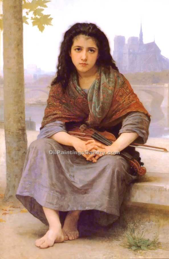 """The Bohemian"" by  Adolphe Bouguereau"
