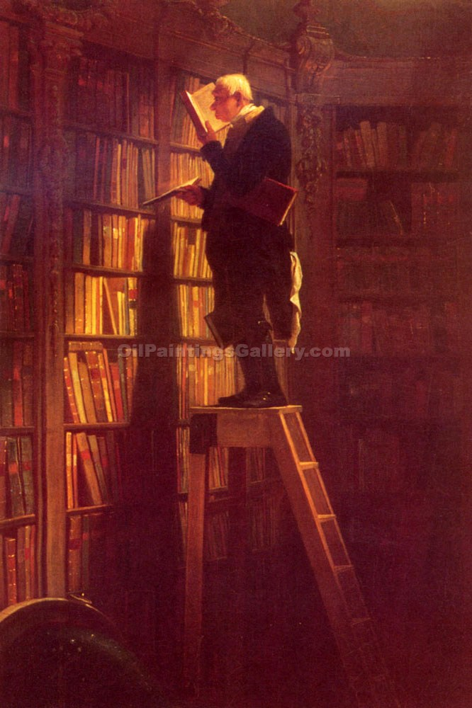 """The Bookworm"" by  Carl Spitzweg"