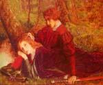 The Brave Geraint by  Arthur Hughes (Painting ID: CL-2065-KA)