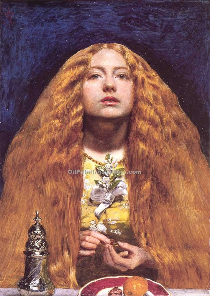 """The Bridesmaid"" by  John Everett Millais"