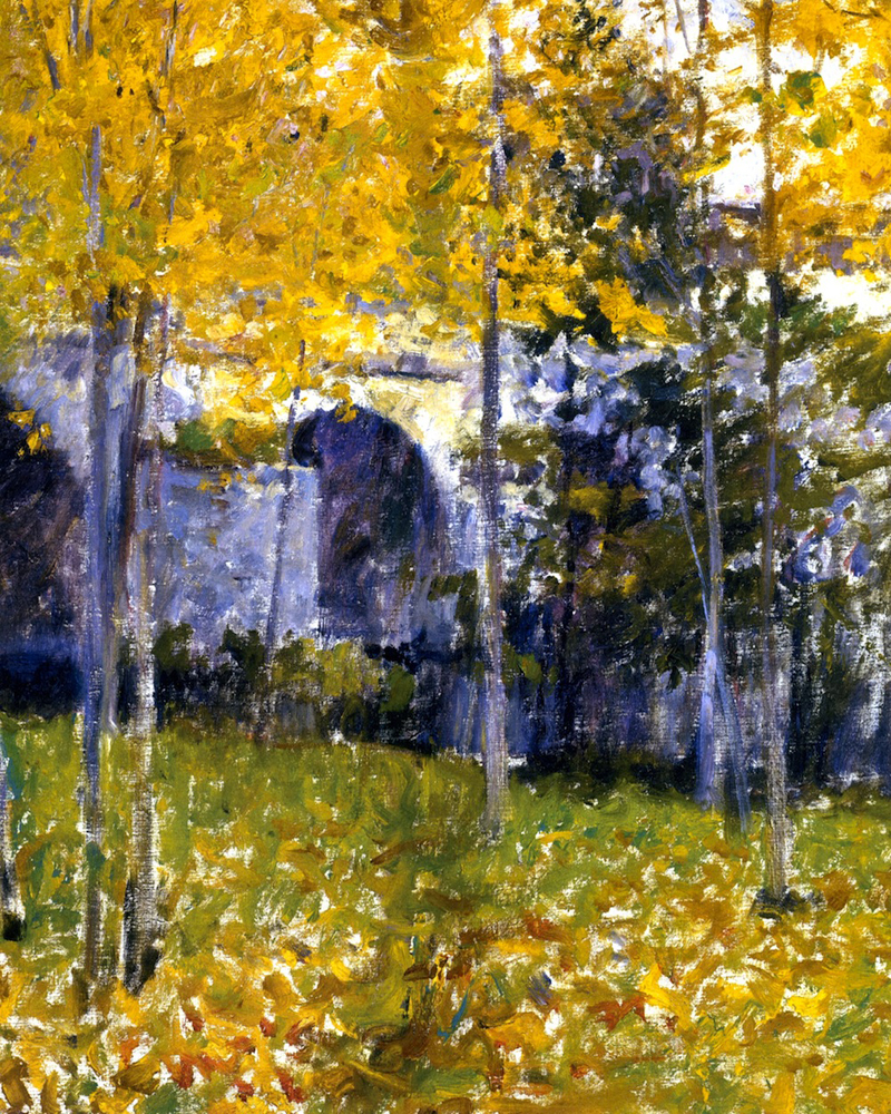 """The Bridge at Grez 54"" by  Robert Vonnoh"