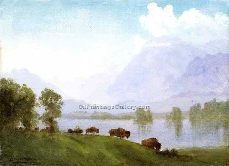 """The Buffalo Country"" by  Albert Bierstadt"