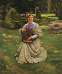 The Caged Bird by  John Byam Liston Shaw (Painting ID: LA-2494-KA)